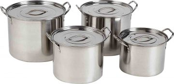 Best 8 Alpine 4 Pieces Stainless Steel Stock Pot Set Review