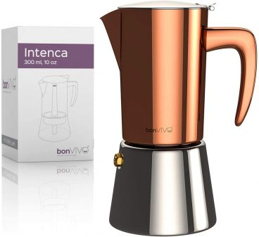 Best BonVIVO Luxurious Full-Bodied Stainless Steel Stovetop Moka Pot Review