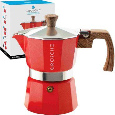 Best Groche Milano Italian Aluminium Moka Pot Coffee Percolator Review