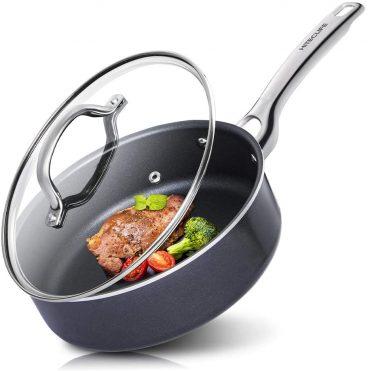 Best Hiteclife Black Aluminium Non-Stick Chemical- Free Deep Frying Pan Review
