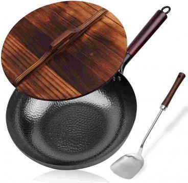 Best KYTD Flat-Bottomed Carbon Steel Wok Pan Reviewed